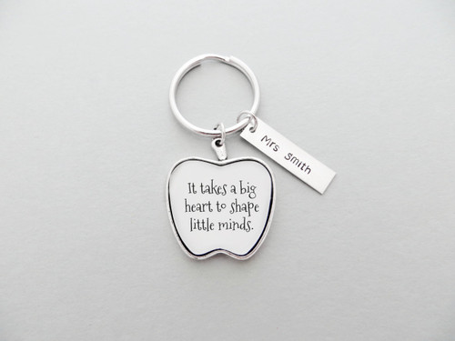 little minds teacher keychain