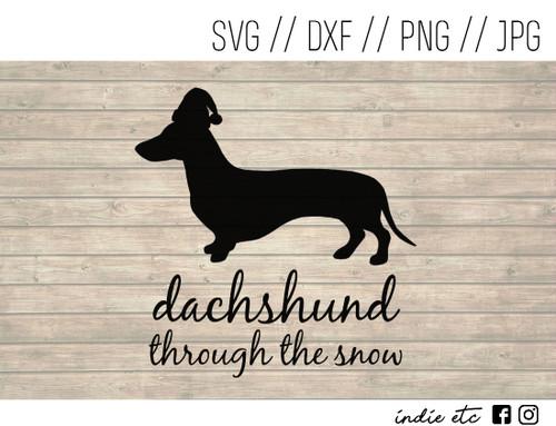 dachshund snow digital art