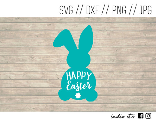 happy easter bunny digital art