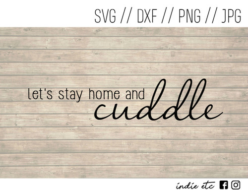 stay home and cuddle digital art