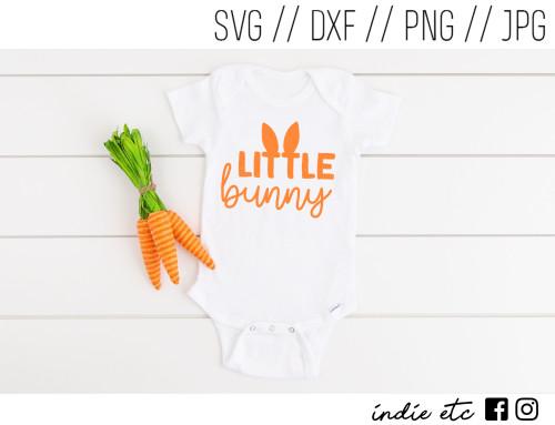 little bunny digital art cut file