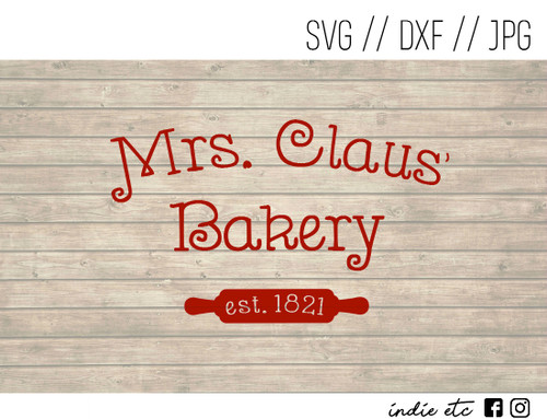 mrs claus bakery digital art