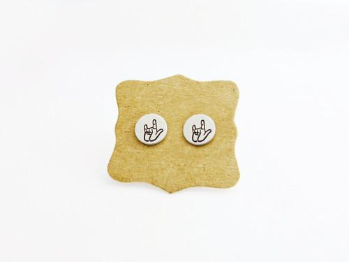 asl earrings