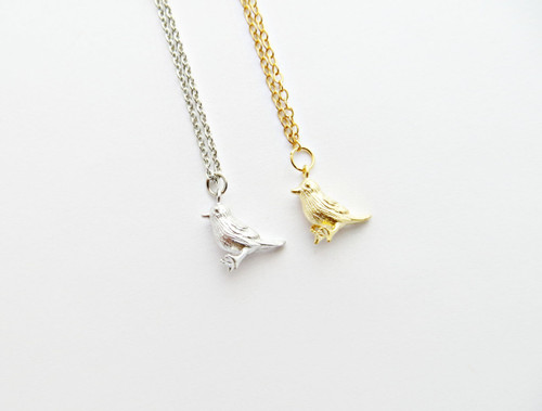 bird charm necklace