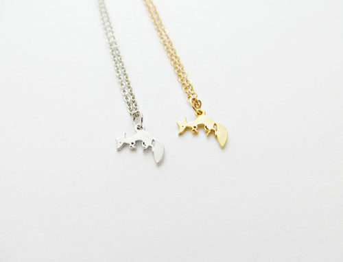 fox charm necklace