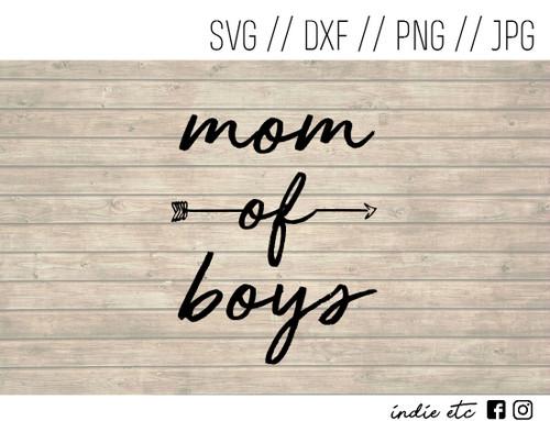 mom of boys digital art