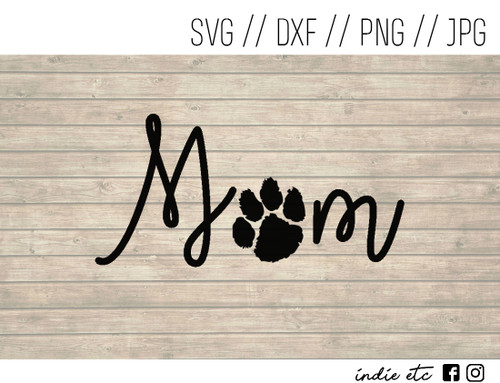mom paw print digital art
