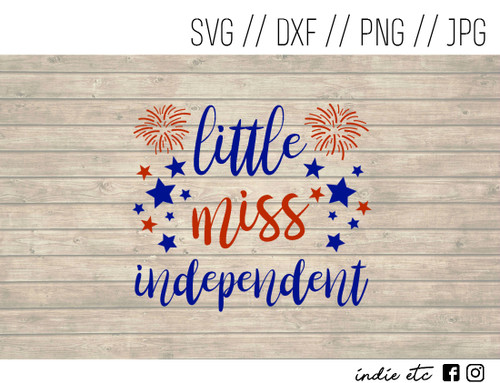 little miss independent digital art
