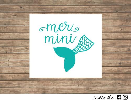 mer mini decal