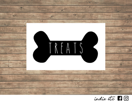 dog bone treats decal