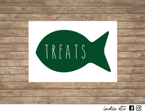 cat fish treats decal