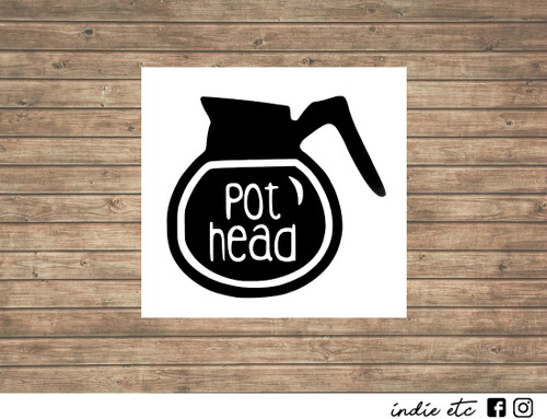 pot head decal