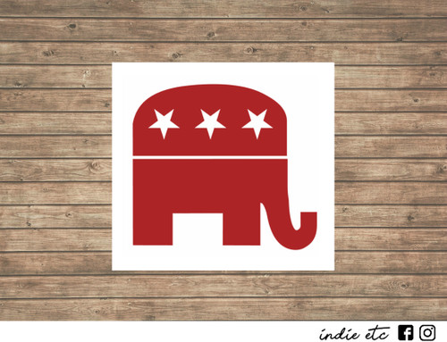 Republican Elephant decal