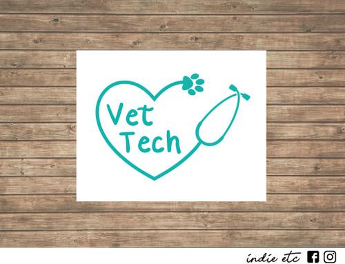 vet tech decal