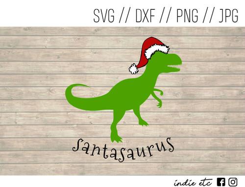 Santasaurus Digital Art