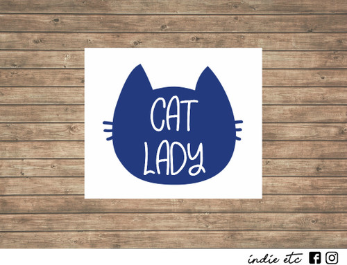 cat lady decal