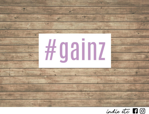 gainz decal