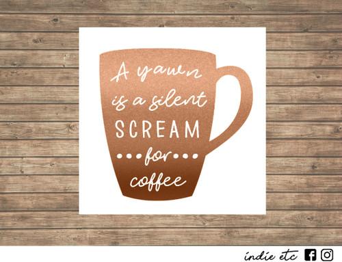 coffee mug decal
