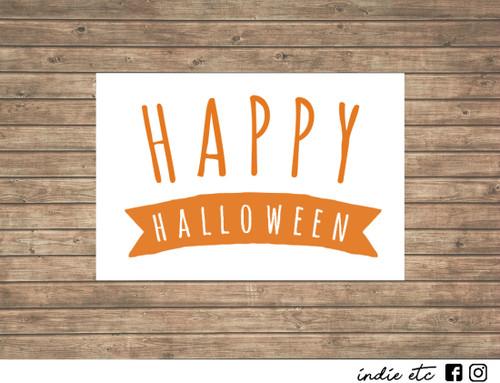 happy halloween decal