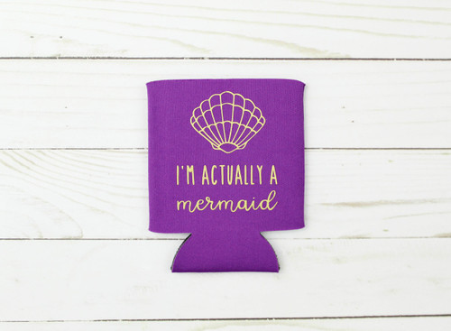 mermaid koozie