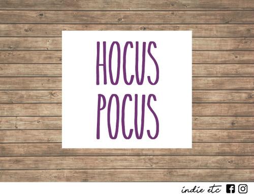 hocus pocus decal