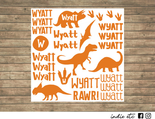 dinosaur decal sheet
