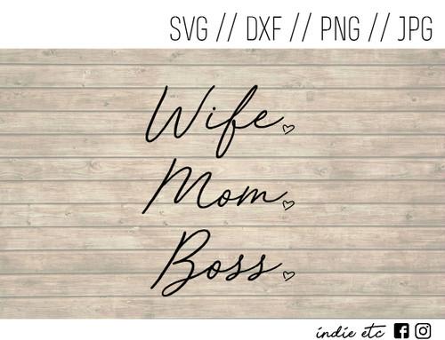 wife mom boss digital art