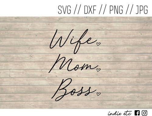 wife mom boss digital art