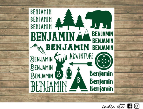 camping decal sheet