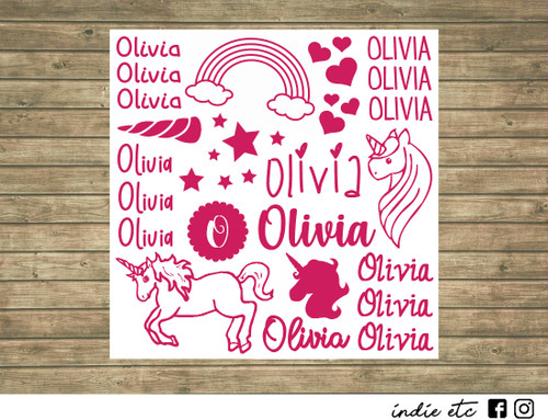 unicorn decal sheet