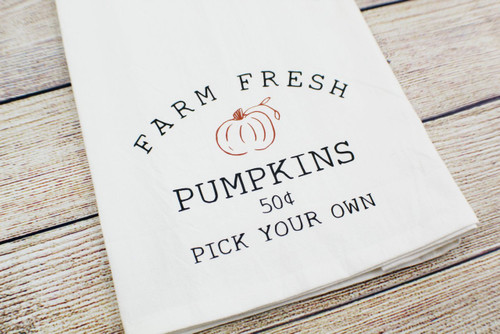 farm fresh pumpkins towel