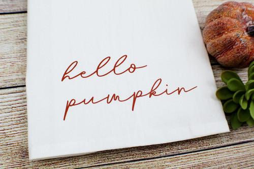 hello pumpkin towel