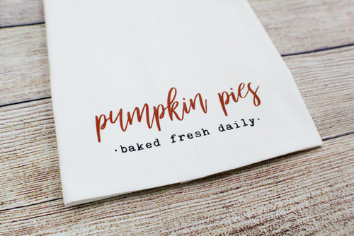 pumpkin pies towel
