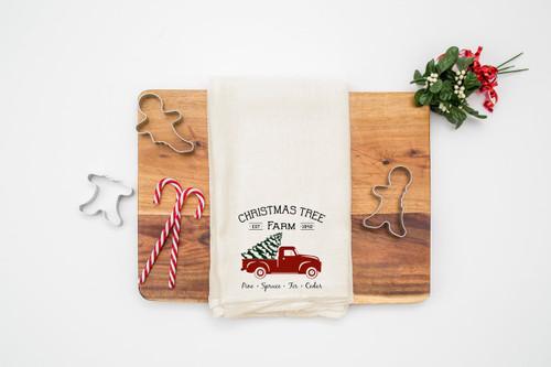 christmas tree farm towel