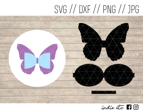 butterfly hair bow digital art