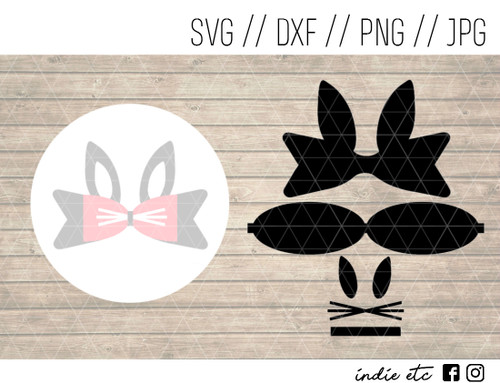 bunny hair bow digital art