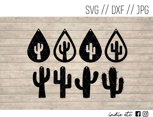 cactus earrings digital art