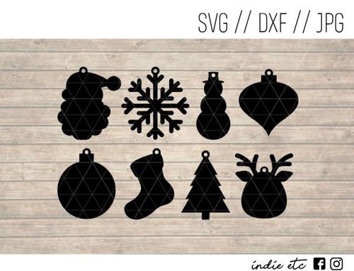 christmas earrings digital art