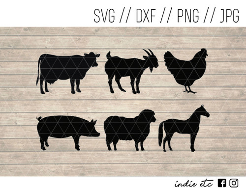 farm animals digital art