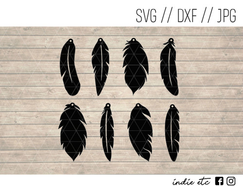 feather earrings digital art
