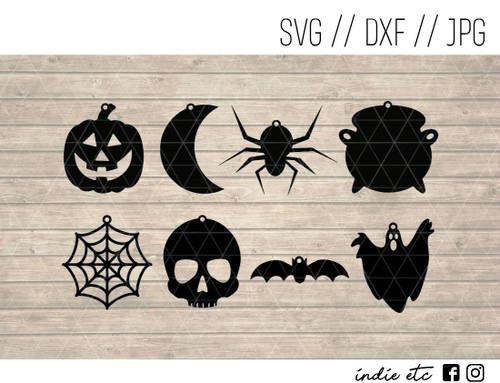 halloween earrings digital art
