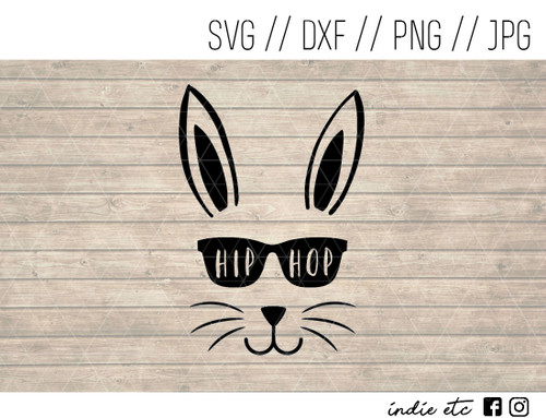hip hop easter bunny digital art