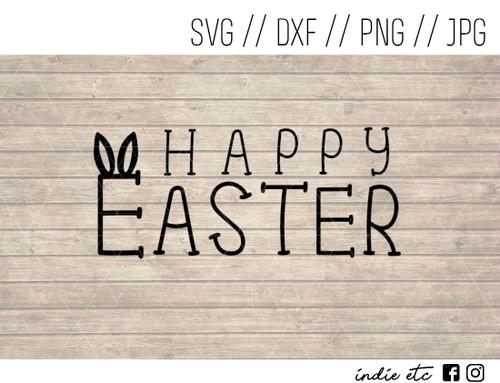 happy easter bunny ears digital art