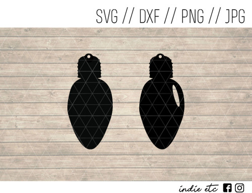 light bulb earring digital art