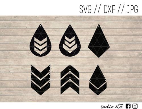 triangle shapes earrings digital art