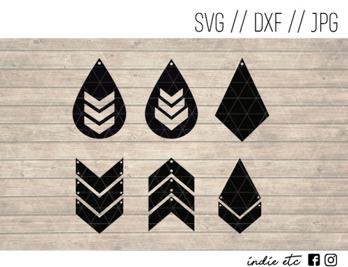 triangle shapes earrings digital art