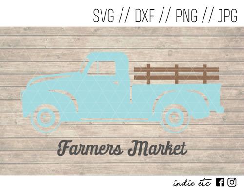 farmer market with truck digital art