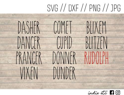 reindeer names digital art