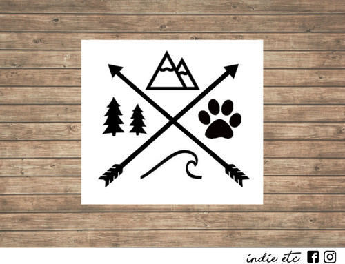 mountain decal wave decal