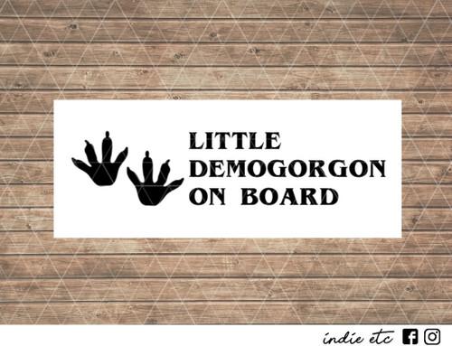 little demogorgon on board decal